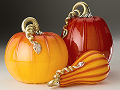 Glass Pumpkins & Squash - Ruby & Gold Collection