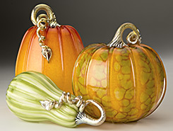 Glass Pumpkins & Squash - Forest Mottled Collection