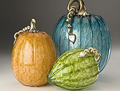 Glass Pumpkins & Acorn Squash - Spring Collection